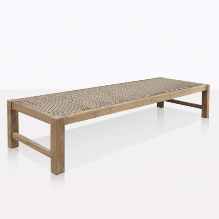 Gazzoni Teak And Rope Low Bench