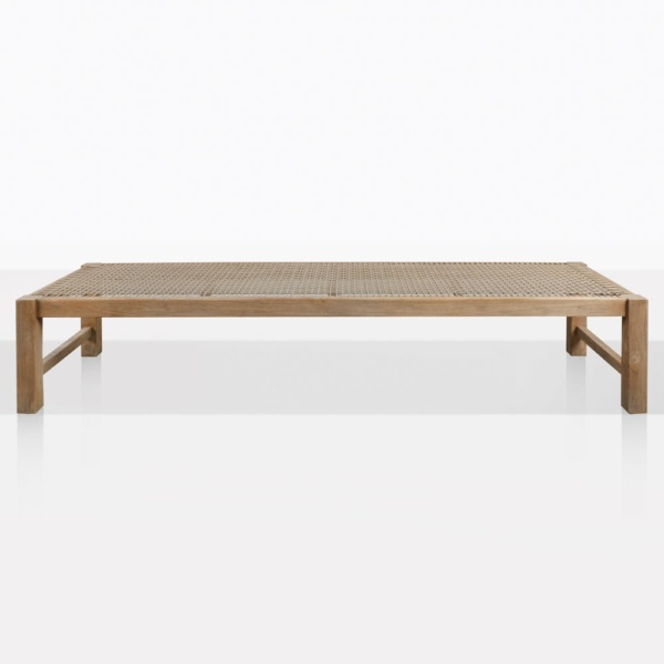 Gazzoni Teak And Rope Low Backless Bench