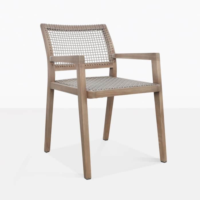 Gazzoni Teak And Rope Dining Chair