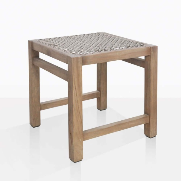 Gazzoni Teak And Rope Dining Stool