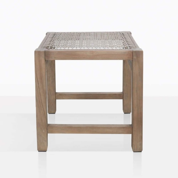 Gazzoni Teak And Rope Dining Stool Side