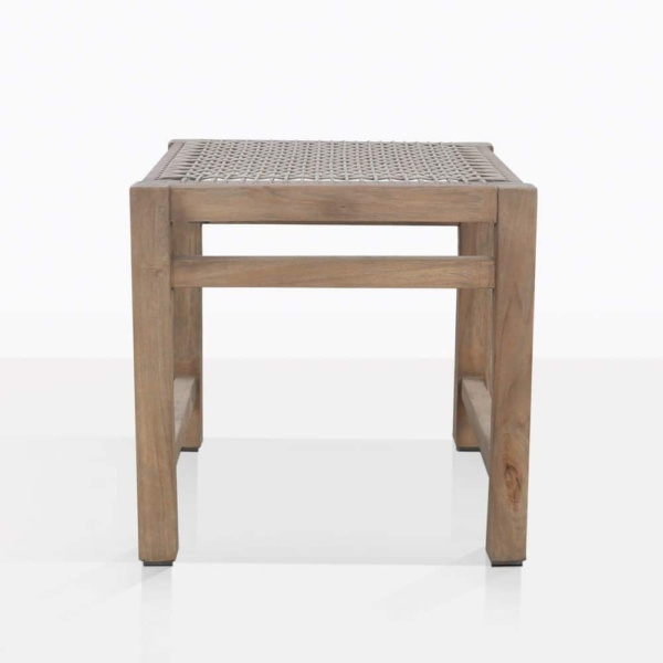 Gazzoni Teak And Rope Square Dining Stool