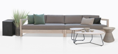 Kent Street Teak Outdoor Sofa And Accent Tables