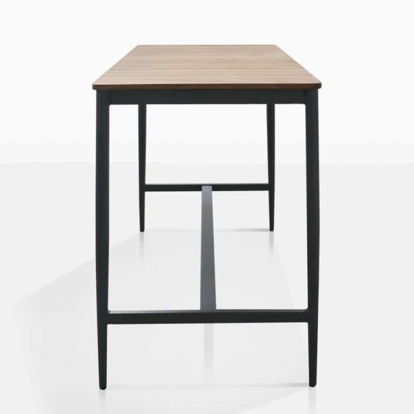 Noble Teak And Aluminium Bar Table