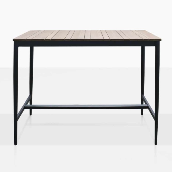 Noble Teak And Aluminium Outdoor Rectangular Bar Table