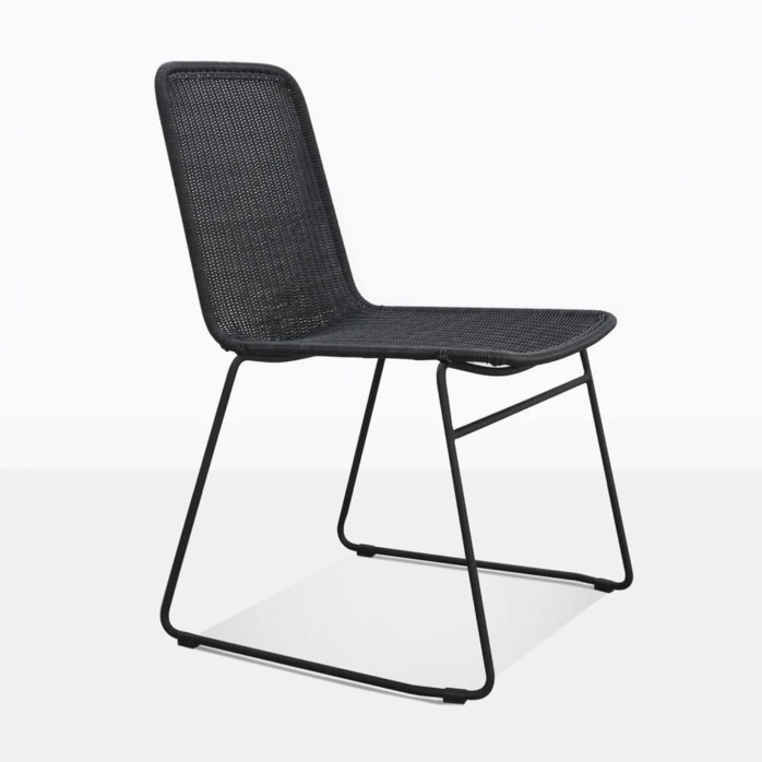 Olivia Black Outdoor Wicker Dining Chair