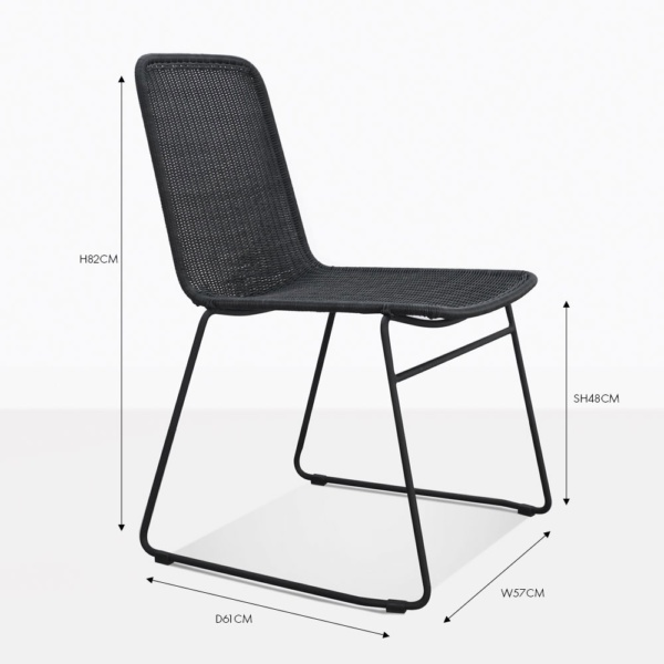 Olivia Outdoor Dining Side Chair In Black Design
