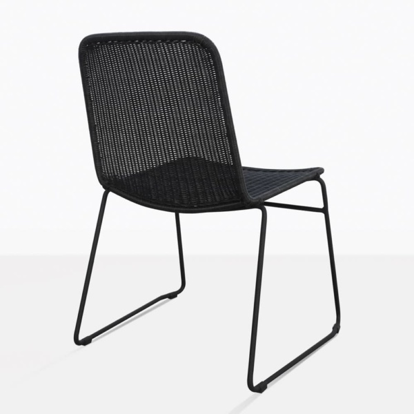 Olivia Black Wicker Dining Chair Back