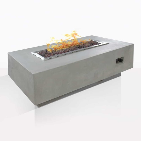 Concrete Rectangle Fire Pit
