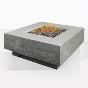 Square Concrete Outdoor Gas Fire Pit