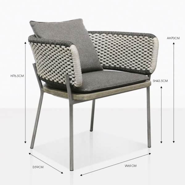 studio two tone dining chair