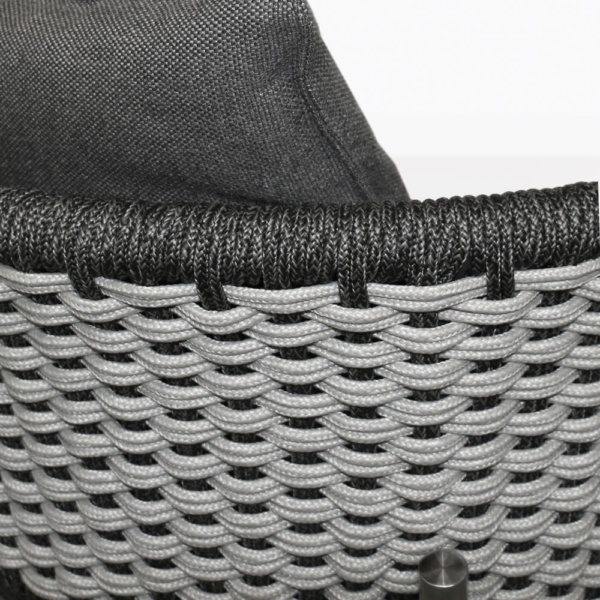 Studio Two Tone Rope Dining Chair Closeup