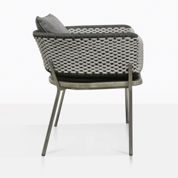 Studio Two Tone Rope Dining Chair Side