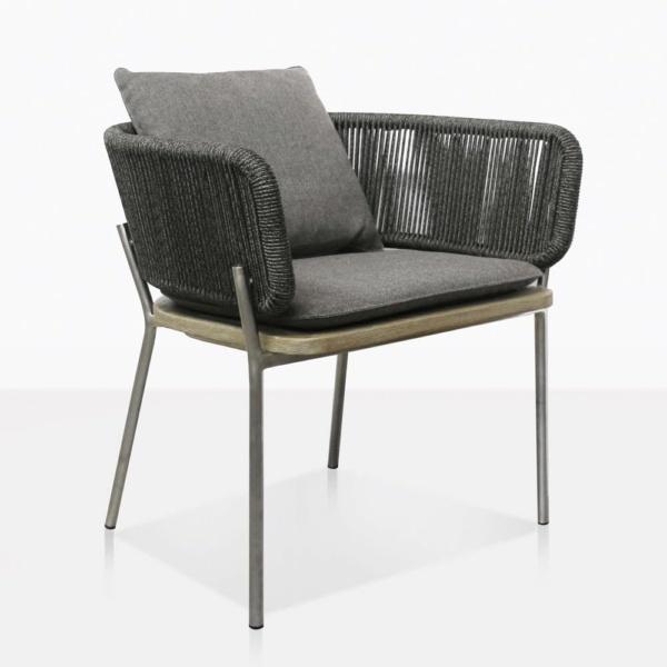 Studio Vertical Rope Weave Outdoor Dining Chair
