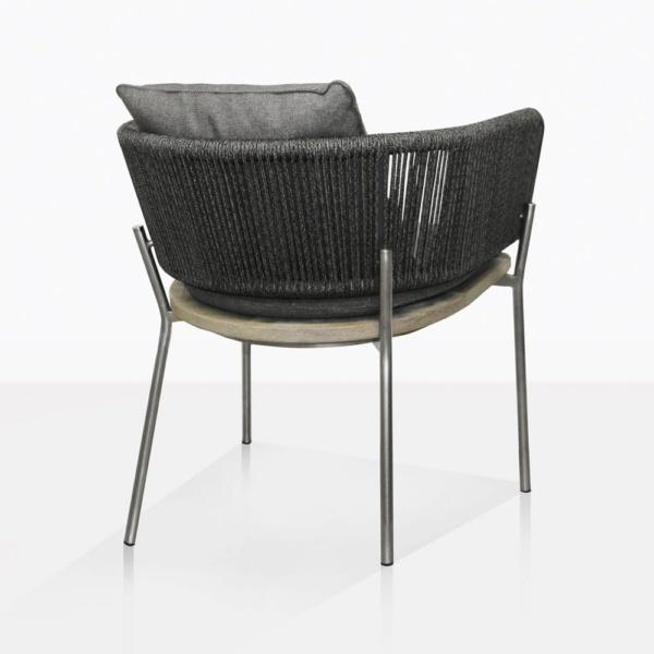 Studio Rope Teak And Aluminium Dining Chair Back
