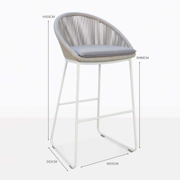 urban outdoor bar stool white
