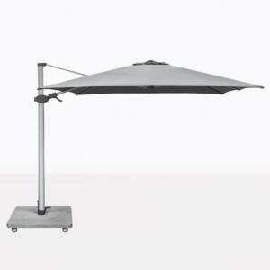Antego Square Cantilever Patio Umbrella With Grey Canopy