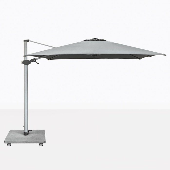 Antego Square Cantilever Patio Umbrella With Grey Canopy
