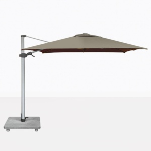 Antego Square Cantilever Patio Umbrella With Taupe Canopy