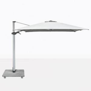 Antego Square Cantilever Patio Umbrella With White Canopy