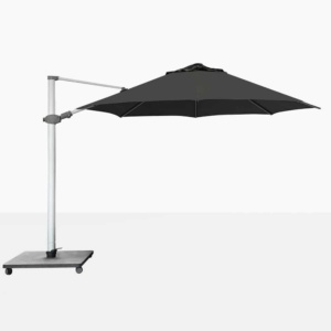 Antego Round Cantilever Patio Umbrella With Black Canopy