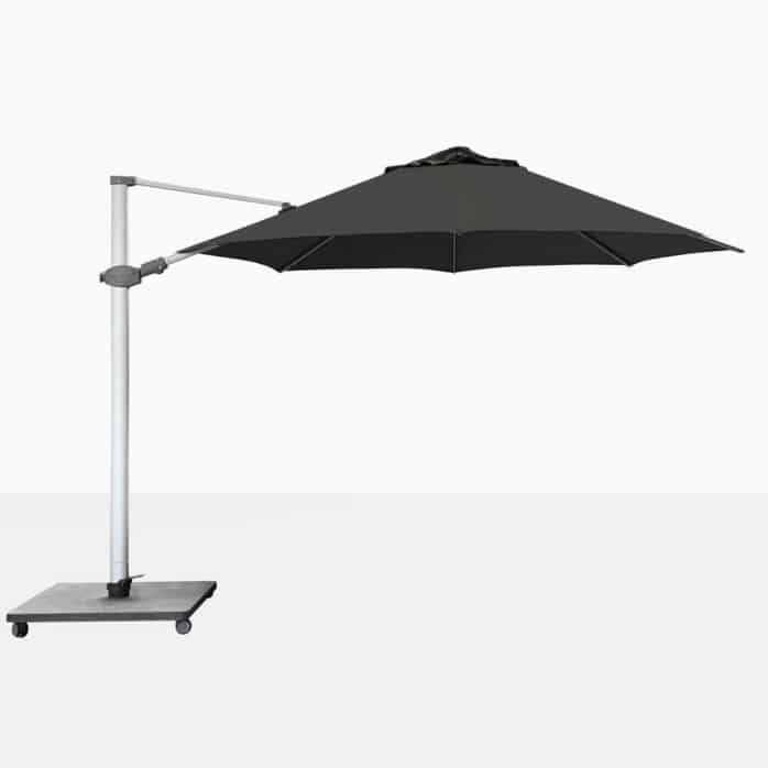 Antego Round Cantilever Patio Umbrella With Black Canopy