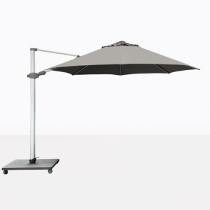 Antego Round Cantilever Patio Umbrella With Grey Canopy
