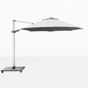 Antego Round Cantilever Patio Umbrella With White Canopy