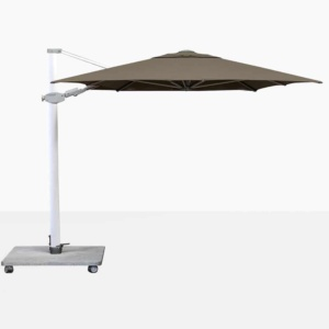 Antego Rectangular Cantilever Outdoor Umbrella With Taupe Canopy