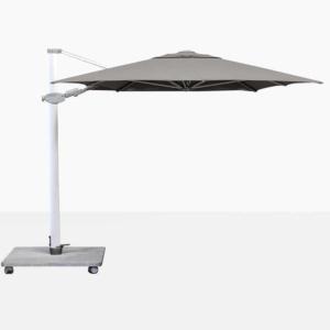 Antego Rectangular Cantilever Outdoor Umbrella With Grey Canopy