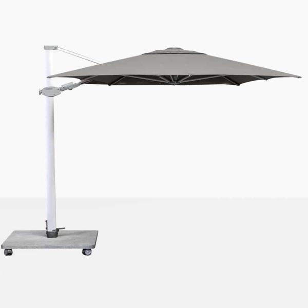 Antego Rectangular Cantilever Outdoor Umbrella With Grey Canopy