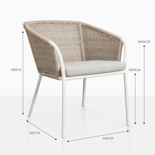 becki wicker dining chair