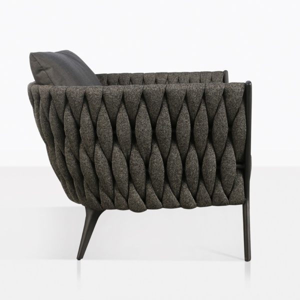 Bianca Outdoor Lounge Chair in Coal Side View