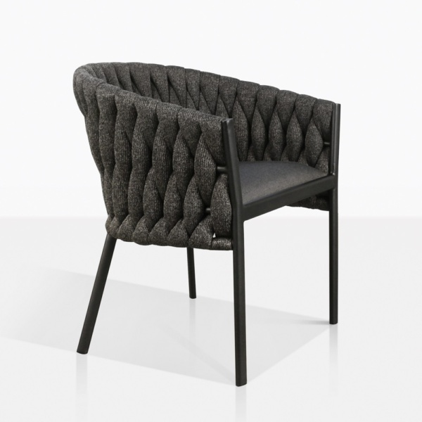 Bianca Rope Outdoor Dining Chair in Coal