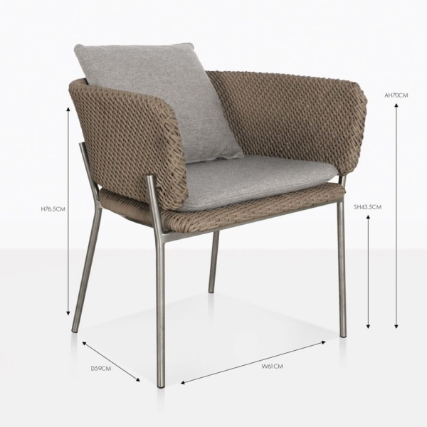 studio cyprus rope dining chair