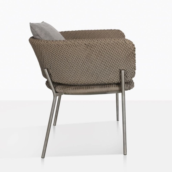Studio Cyprus Rope Outdoor Dining Chair Side