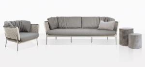 Studio Two Tone Rope Club Chair And Sofa