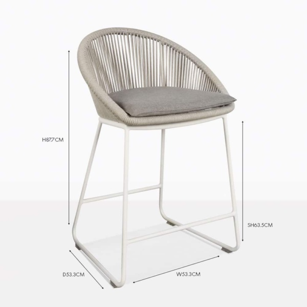 Urban Modern Outdoor Counterheight Stool