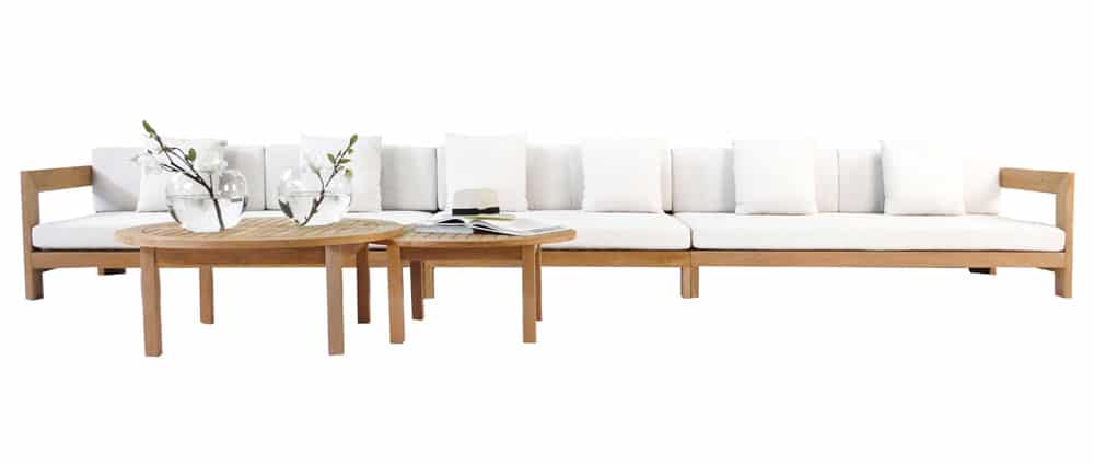 Amalfi A-Grade Teak Modular Sofa & Coffee Tables