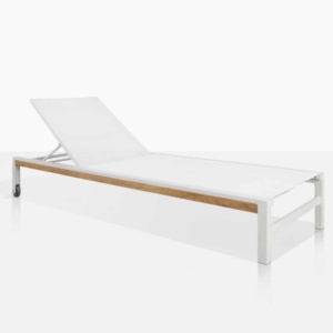 Glaze Aluminium Outdoor Sun Lounger For The Pool