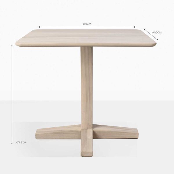 shelli rectangular bistro table