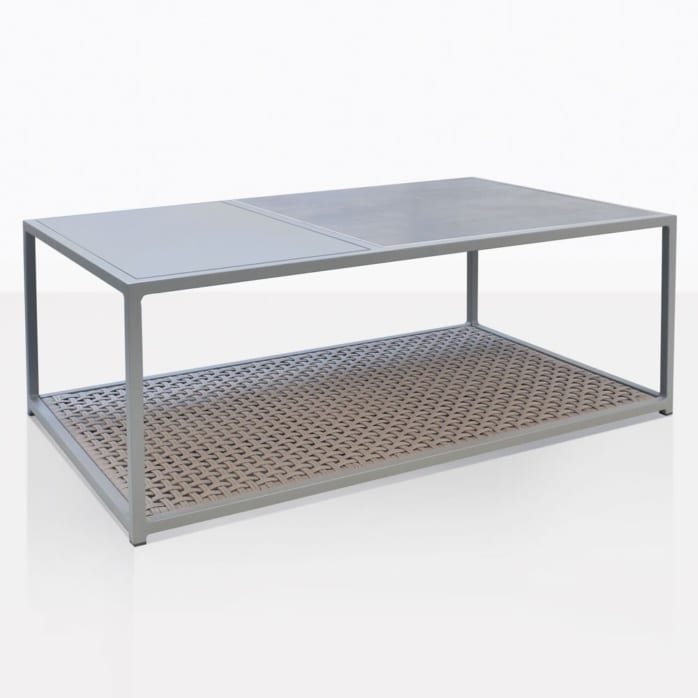 Studio Rectangular Outdoor Coffee Table In Light Grey