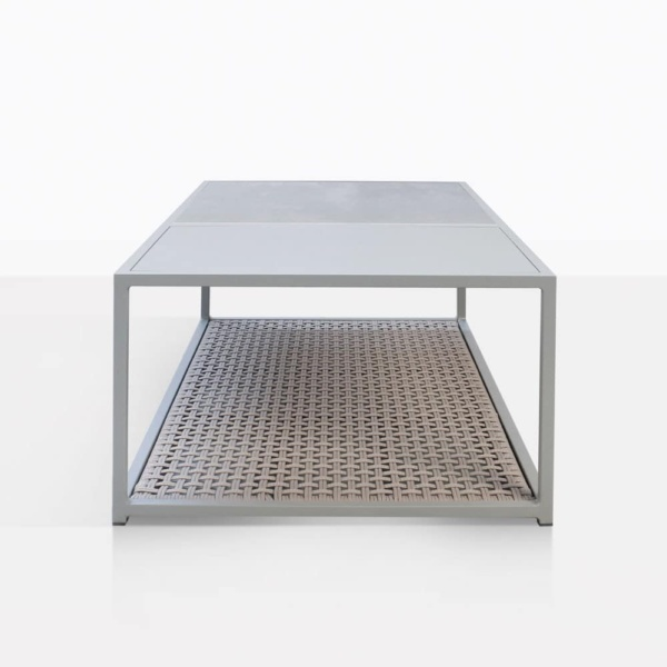 Studio Rectangular Outdoor Coffee Table Side View