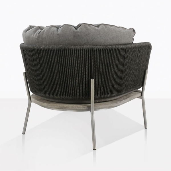 Studio Dark Grey Lounge Chair Back