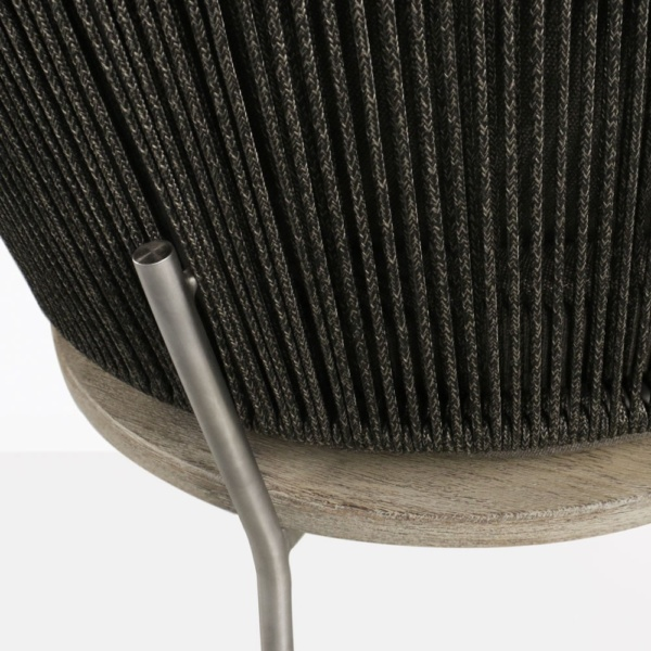 Studio Rope, Teak And Aluminum Club Chair Closeup