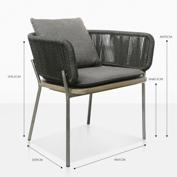 studio vertical weave dining chair