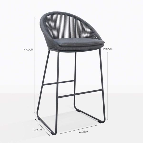 urban outdoor bar stool coal