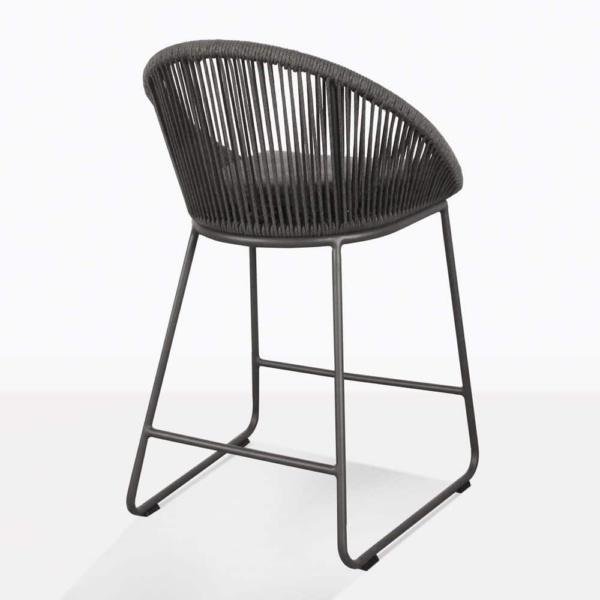 black urban stool - rear angle