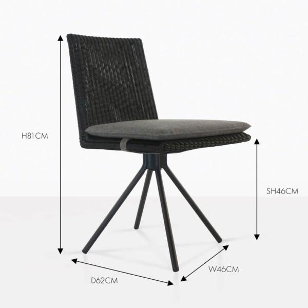 loop dining chair black wicker