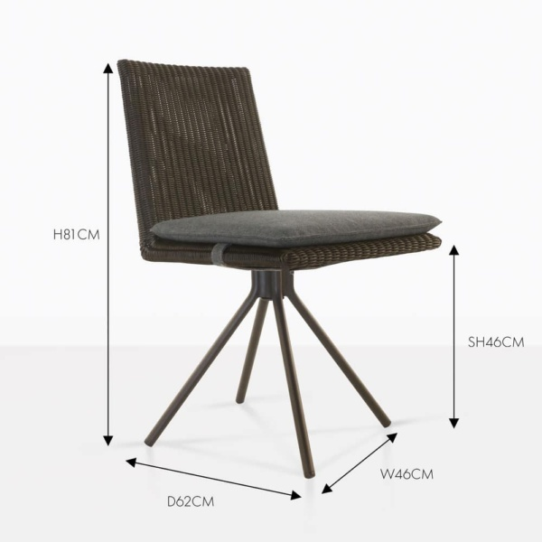loop dining chair brown wicker